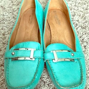 Aqua colored dress loafers by Naturalizer